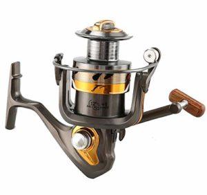 XXBFDT Moulinet de pêche de mer Moulinet d'eau Douce Eau de – Roue de pêche à molette sans tête à tête métallique-Type 5000