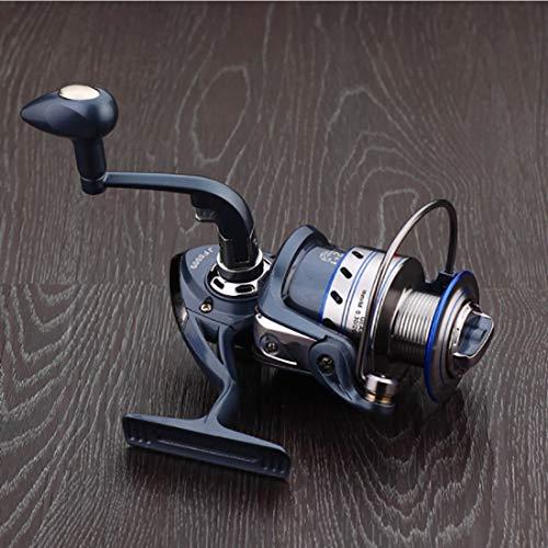 YJIU Moulinet de pêche 12 + 1 roulements gauche et droite Poignée interchangeable pour pêche en eau douce avec double système de freinage, Métal, 4000