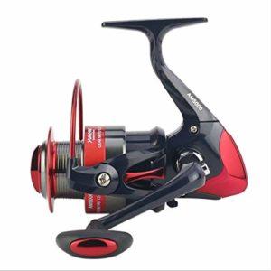 YJIU Moulinet de pêche 12 + 1 roulements gauche et droite Poignée interchangeable pour pêche en eau douce avec double système de freinage, Métal, 5000