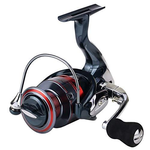 YJIU Moulinet de pêche 13 + 1 roulements gauche et droite Poignée interchangeable pour pêche en eau salée Ratio 5.5:1 avec double système de freinage, Métal, 7000