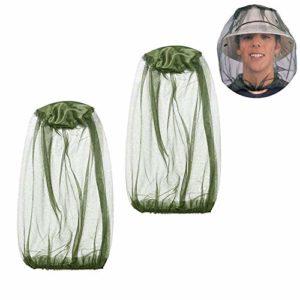 YouU 2 Pack Chapeau de Camouflage Apiculture Apiculteur Anti-moustiques Masque extérieur Pêche et Camping Moustiquaire Chapeau équipement de Protection (Vert/Engrener)