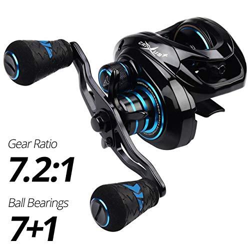ZW Reel, Super Light Baitcasting Moulinet, Système de freinage Double Eau Douce 8KG Drag avec Reel Fishing Bobine