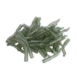 30Pcs Pêche à la Carpe Crochet Manches connecteur Cheveux Rig alignement de Poignées Souple Anti-Nœuds Tubes, Green
