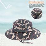 Anyoo Casquettes d'extérieur avec Protection Contre Le Soleil d'été à Large Bord Respirant