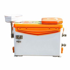 Box Pêche Loisirs Sauvage épaissie Pêche Boîte Accessoires Multi-Fonctionnel de Quatre Pieds de Levage Un Poisson en Direct Clé Bucket Orange Boîte de pêche (Color : Orange, Size : 52x30x36cm)