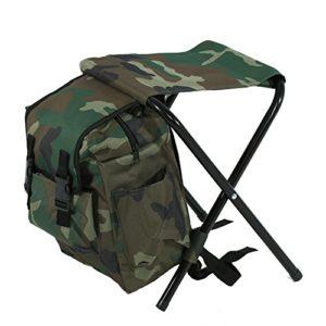 Chaise Pliante Siège Tabouret Pliable Portable Multifonction – Chaise + Sac à Dos pour Pêche Camping Voyages Plage Pique-nique Extérieurs