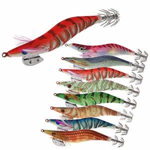 Croch 8 Pièces Lumineuse Turlutte Leurre pour la Pêche des Pieuvre,Seiches et Calamar
