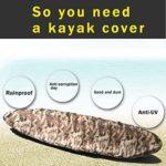 FBKPHSS Couverture Imperméable de Kayak, Housse Bateau Universelle AVCE UV Protection Matériau Portable Housse de Bateau pour Stockage Extérieur Facile à Nettoyer,Desert Color,15to16.4FT