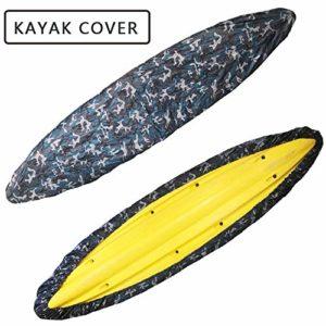 FBKPHSS Couverture Imperméable de Kayak, Tissu de Oxford Housse de Kayak Housse de Protection Protecteur de Bouclier Anti Poussière Résistant UV pour Kayak Canoë,Ocean Color,13.4to14.7FT