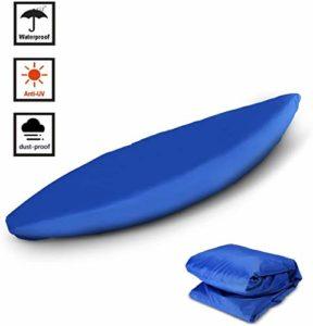 FBKPHSS Housses pour Étanche Kayak, Extérieur Respirant Housse pour Stockage Poussière Protection UV 50 Fois Tissu Oxford pour Paddle Board Kayaks Canoe,Bleu,11.8to13.1FT