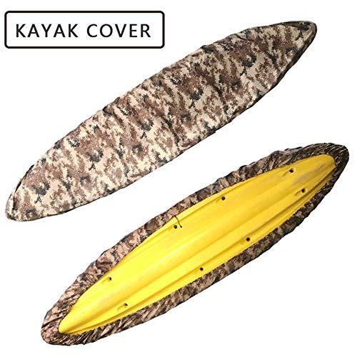 FBKPHSS Imperméable Housse de Kayak, Protecteur de Bouclier Anti Poussière Etanche et Résistant aux UV pour Bateau de Pêche Kayak Canoë Postuler à Tailles Différentes Kayak,Desert,8.5to9.8FT