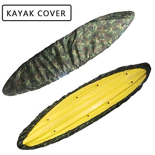 FBKPHSS Imperméable Kayak Cover, Housse de Protection pour Stockage Extérieur Anti UV Matériau Oxford pour des Tailles Différentes Kayak Housse de Protection,Jungle Color,8.5to9.8FT