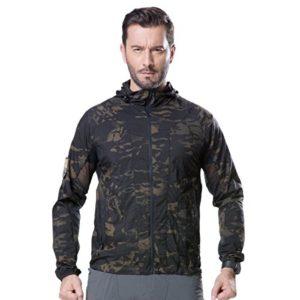 Free Soldier Manteau tactique ultraléger respirant imperméable Taille XXXL Camouflage noir