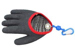 Gant de pêche avec fermeture aimantée, pour pêcheur professionnel, résistant aux coupures et aux crevaisons avec crochets magnétiques #FF0001, gris, Medium-Left