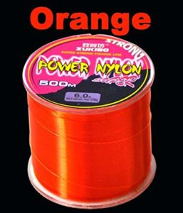KDHJY 500M Super pêche en Nylon Solide Ligne Japonaise Durable Monofilament Ligne de pêche 12 Merde Couleurs 5LB-40LB Saltwater (Color : Orange, Size : 1.0)