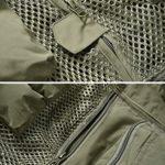 Kefied Gilet de pêche pour homme avec de nombreuses poches – Noir – XXXL