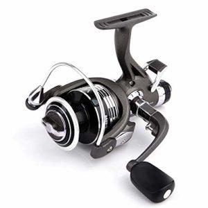 Keliour Bateau de pêche VS3000-6000 Series Pêche Moulinets avec Bobines de Rechange 10 + 1 BB Gauche/Droite Interchangeable Sea Spinning moulinets (Color : Black, Size : VS3000)