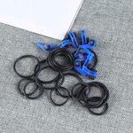 Lioobo Lot de 10 crochets pour canne à pêche Bleu 3