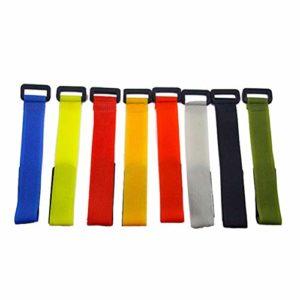 Lioobo Lot de 5 ceintures pour canne à pêche avec autocollant (couleur aléatoire)