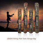 Lixada Sac de pêche Double Couche Grande contenance Canne à pêche Tackle Sac 120/150cm, Vert Camouflage