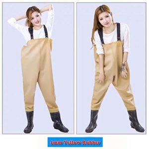 LSZHXL 1Mm Waders en Caoutchouc Souple De Pêche Pantalon Respirant Wading Bottes en Caoutchouc Costume Imperméable pour Combinaisons De Pêche