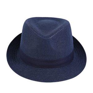 MLTYQ Chapeau d'été pour Hommes, Casquette d'été Cool pour Hommes Chapeau décontracté Chapeau Respirant en Paille de pêcheur, 2 Couleurs en Option $ w $ (Couleur: 2#, Taille: 59cm)