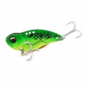 Pêche de Saumon Bass Fishing Cuillère leurres avec Treble Hooks Casting Cuiller Bionic appât Living Multisegements (Color : B, Size : 20g)