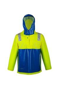 PROS EXTREME Veste solide et professionnelle, veste de voile, veste de pêche, idéale pour la pêche en mer, Jaune fluorescent / bleu fluorescent., 56