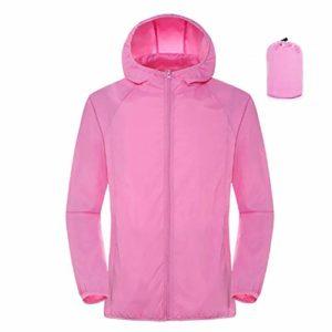 QingYu imperméable Veste de Pluie à Capuche imperméable Respirant Solide Couleur imperméable Coupe-Vent Garder au Chaud Femmes Hommes Veste Alpinisme en Plein air