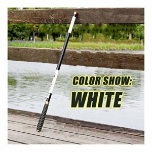 QIYUE Pesca Carbone Pêche à la Carpe Rods Flux télescopique Chargeur Main Pole Fly Tackle Peche Voyage 2,7M 3,6M 4,5M 5,4M 6,3M 7,2M (Couleur : White, Size : 4.5 m)