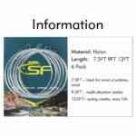 SF – Bas de ligne effilés à boucle pré-nouée pour la pêche à la mouche–Lot de 6, claire, 7.5FT-4X(2)5X(2)6X(2)