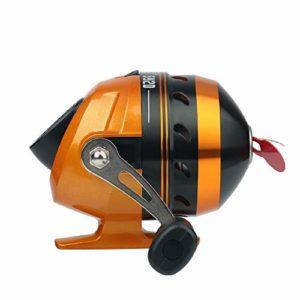 Système de Drag Prime Pêche Spincast Bobine Cachée Catapultes Aluminium Chasse Alliage Poisson Bobine De Pêche avec La Ligne De Pêche (Color : Orange, Size : One Size)