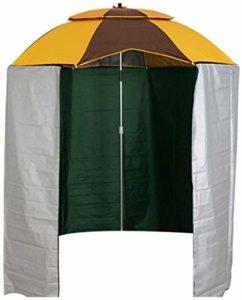 WENYAO Parasols de Jardin Grand Parapluie extérieur Parapluie de pêche avec Rideau Parapluie Direction Amovible réglable (Couleur: Jaune)