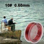WWTTE 100m extra fort 10.0 # 0.60mm 25,8 kg Duel Road Département de la ligne de poisson (rouge) N