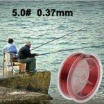 WWTTE 100m Extra fort 5.0# 0.37 mm 14,5 kg Duel Road Département de la ligne de poisson (rouge) N