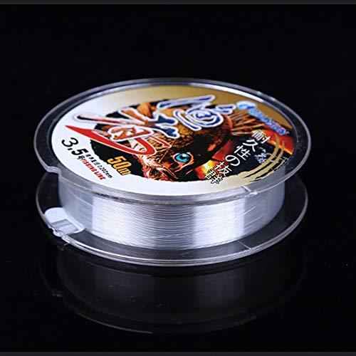 WWTTE 3.5C 0.309mm 4.74kg Nodules Tension 5.93kg Ligne droite Tension 50m Solide Importé Nylon de soie brute (Transparent) N, transparent