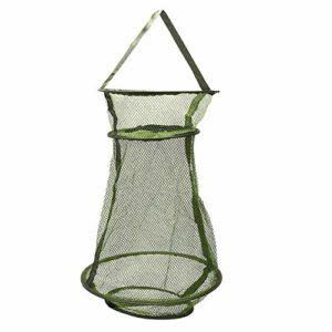 ZHongWei– 1pc Pêche Pêche Net Care Creel Tackle en Caoutchouc Souple épuisette Cast Pêche Réseau Cage Accessoires for Poissons Tackle Outils (Size : A)