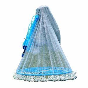ZHongWei– Frisbee épervier, Disque Main Throw Net Easy Throw Net Fer chaîne Gray Line Gras Épuisette, Grids Multiples et Options de Taille (Color : 1 Finger, Size : 6.5m)
