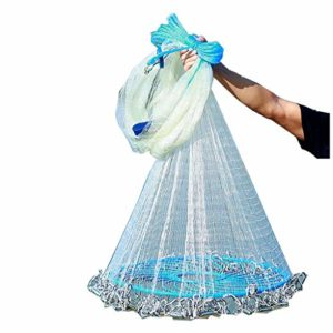 ZHongWei– Frisbee Plomb Sinking Nets Frisbee Nets Throw Main Cast Main, différentes spécifications de l'eau Douce Filets (Color : 2 Fingers, Size : 6M)