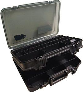 Boîte pour pêche Meiho Versus 3070noire, 38x 27x 12cm