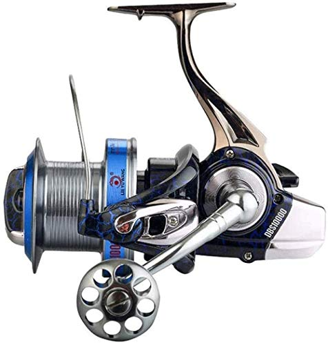 BZLLW Reel Pêche, Basse Torq roulettes Tout métal, Super Longue Distance Anchor Poisson Arme, Haute résistance Type Cast Longue Distance, Grande capacité d'enroulement (Size : 8000)