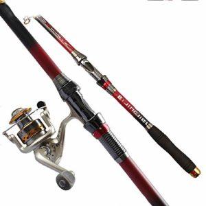 Canne à pêche télescopique Ablaze Jin 2,1-3,6 m portable 99% fibre superhard canne à pêche à la roche 2,7 m