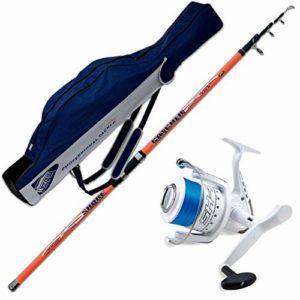 Canne Catcher 420cm 200gr + Moulinet Shizuka sK77000+ fourreaux portacanne Evo fishing