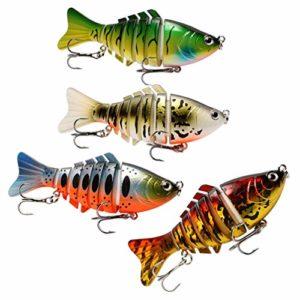 CLISPEED 4 Pièces Leurre de Pêche Appâts Bioniques Appâts Réalistes Accessoires de Pêche Simulés pour Lac en Plein Air Mer Rivière 10 Cm