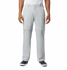 Columbia Pantalon Convertible pour Homme Blood and Guts III, Homme, 1577262, Gris, 50W / 34L