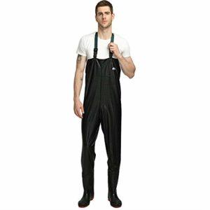 ENJOHOS Waders de pêche avec Ceinture pour Hommes et Femmes,imperméable Pantalon de Wader Waders de pêche Standard en PVC (EU 45)