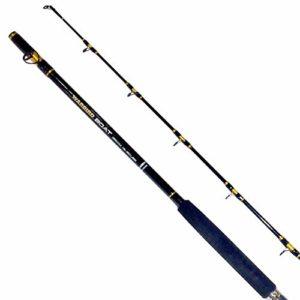 Fladen Fishing Canne à pêche en carbone en forme de bateau WARBIRD BATEAU – 2 pièces de qualité pour pêche en mer et marine (classe 6,8-13,6 kg) – Disponible en 1,80 m, 1,95 m, 2,10 m, Noir , 6.4ft / 195cm