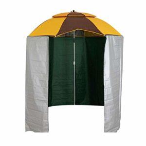 Grand Parapluie de pêche Parapluie extérieur avec Rideau Parapluie Direction Amovible réglable