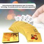 Gyratedream Cartes à Jouer 24 carats étanche Feuille d'or Diamant Poker Carta ou Cartes à Jouer en Plastique Cartes à Jouer