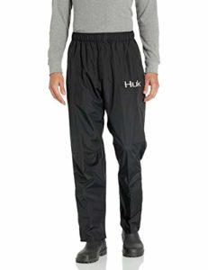 HUK CYA Pantalon de Pluie Pliable pour Homme Noir Taille S